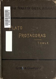 Cover of: Protagoras | Plato