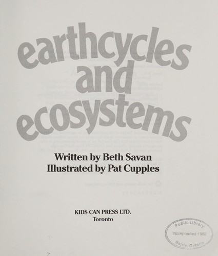 Earthcycles and Ecosystems by B. Savan