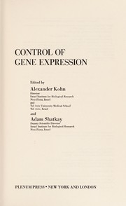 Cover of: Control of Gene Expression | Alexander Kohn