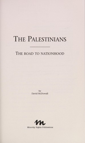 The Palestinians by David McDowall