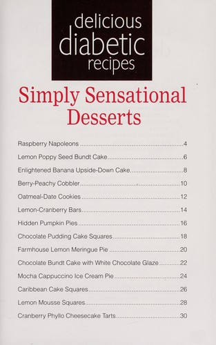 Simply sensational desserts by
