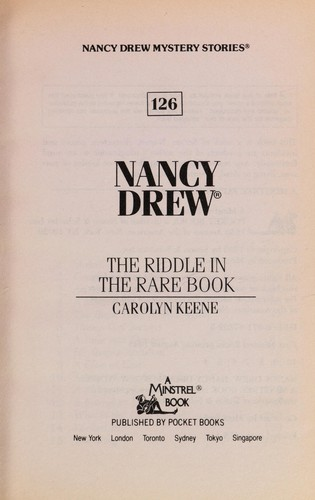 The riddle in the rare book by Carolyn Keene