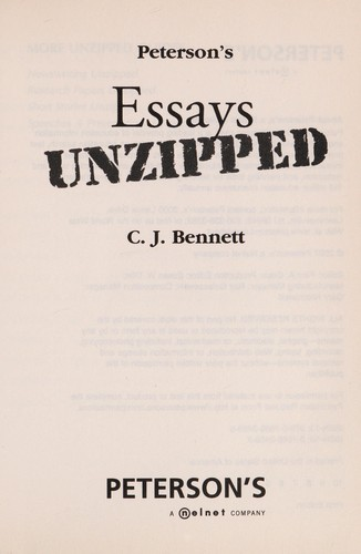 Peterson's essays unzipped by C. J. Bennett