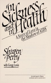 Cover of: In sickness and in health | Shireen Perry