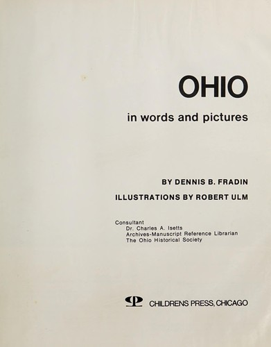 Ohio in words and pictures by Dennis B. Fradin