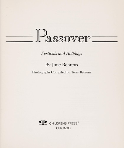 Passover by June Behrens
