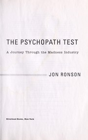 Cover of: The psychopath test | Jon Ronson