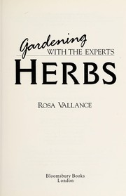 Cover of: Herbs | Rosa Vallance