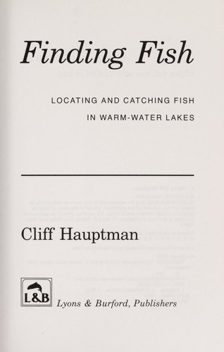 Finding fish by Cliff Hauptman