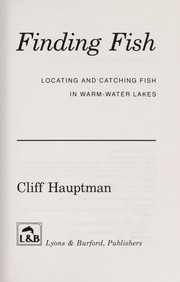 Cover of: Finding fish | Cliff Hauptman