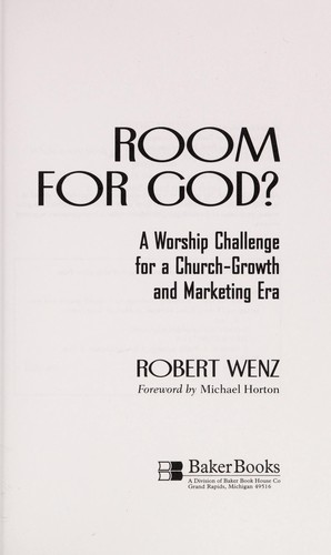 Room for God? by Robert Wenz