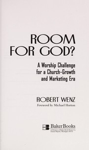 Cover of: Room for God? | Robert Wenz