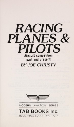Racing planes & pilots by Joe Christy