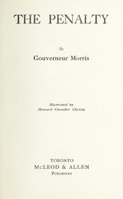 Cover of: The penalty | Morris, Gouverneur