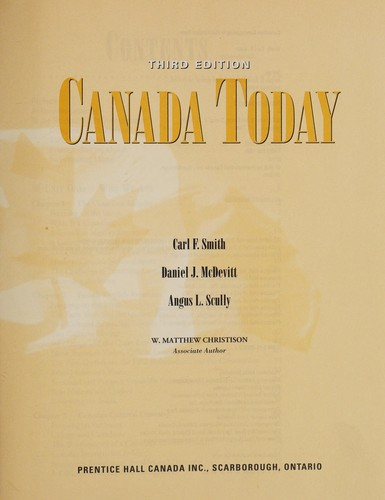Canada today by Carl F. Smith