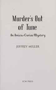 Cover of: Murder's out of tune | Miller, Jeffrey