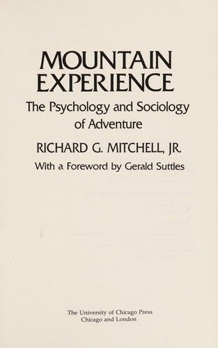 Mountain Experience by Jr. Richard G. Mitchell