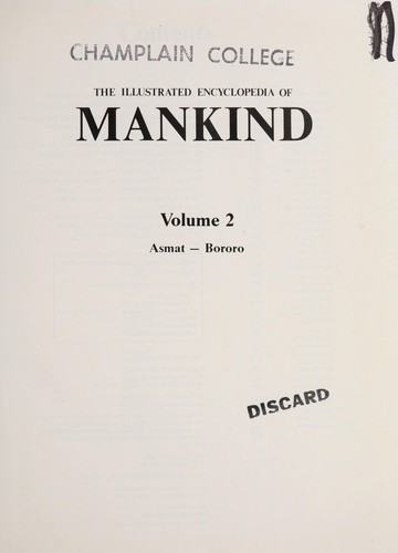 The Illustrated Encyclopedia Of Mankind Volume 6 by Not Listed