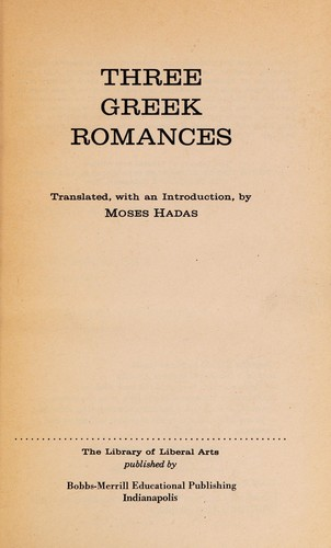 Three Greek Romances by Publius Terentius Afer