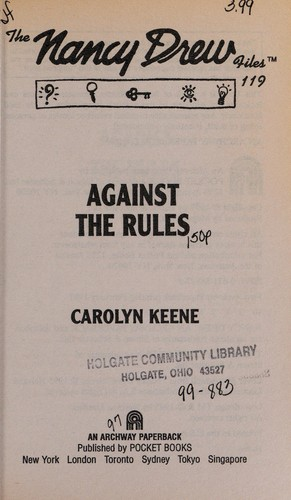 Against the rules by Carolyn Keene