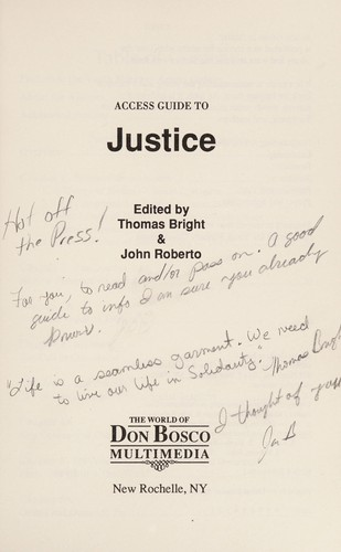 Justice by Thomas Bright, John Roberto