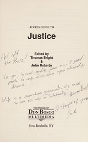 Cover of: Justice | Thomas Bright, John Roberto