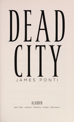 Dead City by James Ponti