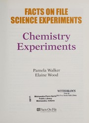 Cover of: Chemistry experiments | Pam Walker