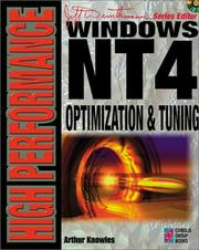 Cover of: High Performance Windows NT 4 Optimization & Tuning by Arthur Knowles