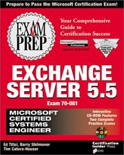 Cover of: MCSE Exchange Server 5.5 Exam Prep (Exam: 70-081) | James Michael Stewart