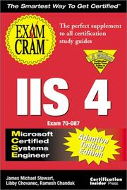 Cover of: MCSE IIS 4 Exam Cram Adaptive Testing Edition: Exam by James Michael Stewart