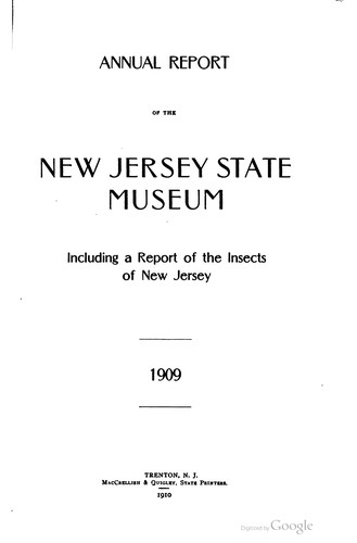Insects of New Jersey by John Bernhard Smith