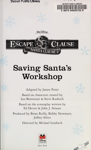Saving Santa's workshop by James Ponti
