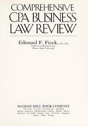 Cover of: Comprehensive CPA business law review | Edmund F. Ficek
