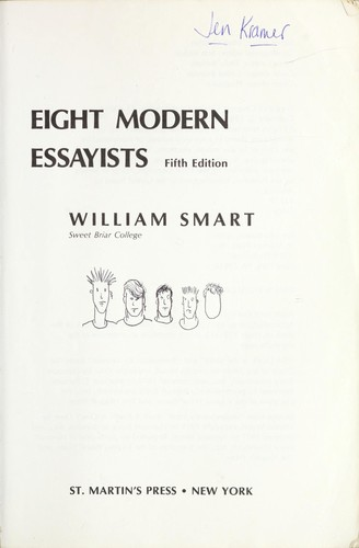 Eight modern essayists by Smart, William