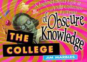 Cover of: The college of obscure knowledge | Jim Marbles