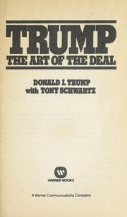 Cover of: Trump : the art of the deal | Trump, Donald, 1946-