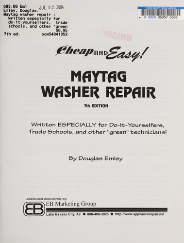 Maytag washer repair by Douglas Emley