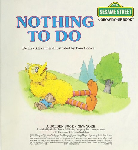 Nothing to do by Liza Alexander
