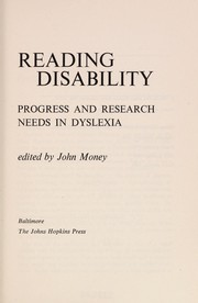 Cover of: Reading disability | John Money