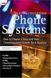 Cover of: Next generation phone systems | David Krupinski