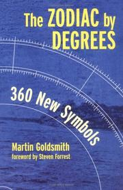 Cover of: Zodiac by Degrees by Martin Goldsmith