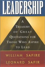 Cover of: Leadership | William Safire