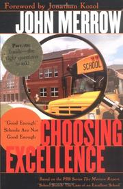 Cover of: Choosing Excellence by John Merrow