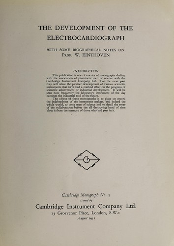 The development of the electrocardiograph by S. L. Barron