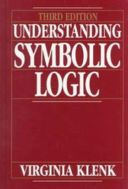 Cover of: Understanding Symbolic Logic by Virginia Klenk
