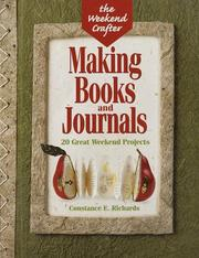 Cover of: Making books and journals by Constance E. Richards
