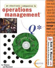 Cover of: Operations Management | Ruth Maurer