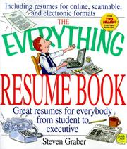 Cover of: The Everything Resume Book (Everything) | Steven Graber