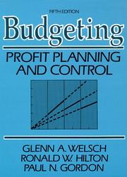 Cover of: Budgeting by Glenn A. Welsch